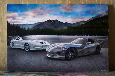 Pontiac Trans Am 30th Anniversary and Dodge Viper by Veyron777