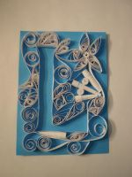 Quilling L by blue1836