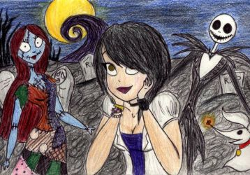 Me in Halloween Town by DB-artwork