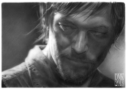 Norman Reedus portrait by dmkozicka