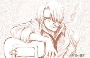 One Piece - Sanji Sketch by AprilPolitano