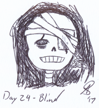 Inktober 2017 Day 24 - Blind by AnotherDemon