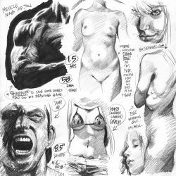 Life drawings from photoreference, 2018-04-06 by AdamWarren