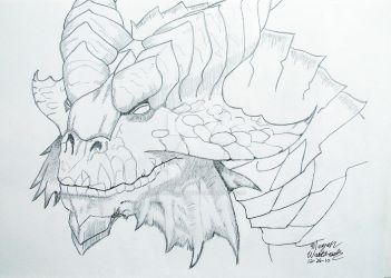 Copper Dragon Drawing by MistressDragoness