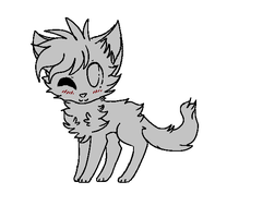 Free Cat Lineart (MS. paint) NEW VERSION by XxCandyKittyxX