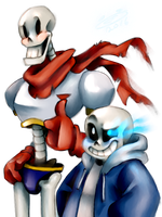 Papy and Sansy by TheFreakyPanda
