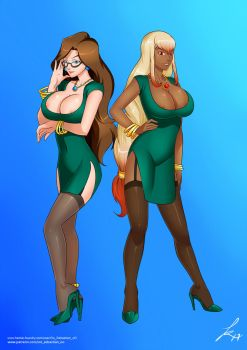 Femdom OC's Angela Smith and Rebecca Lys by Daveyboysmith