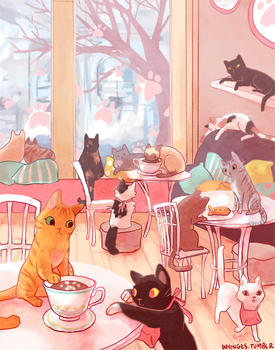 Cat Cafe by whinges