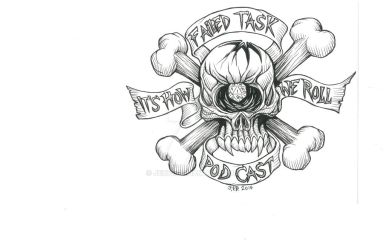 Failed Task Podcast logo in Black and white by JEB73