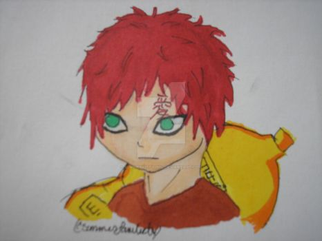 Gaara of the Sand in Copics by SummerKittyGirl
