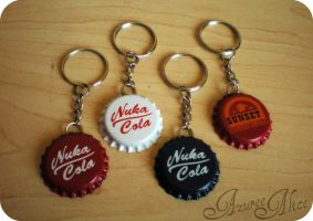 Fallout Keychains by AzureeAlice