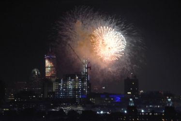 Fireworks and the Boston Skyline 3 by Miss-Tbones