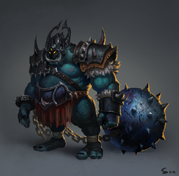 The iron ball monster by S-Y-W