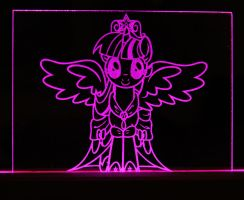 Princess Twilight Sparkle Acrylic LED Picture by steeph-k