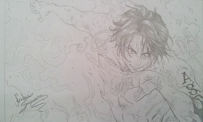 Ace (One Piece) sketch by fabiisiqueira