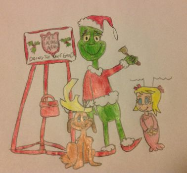 The Grinch and his friends at the Salvation Army by Prince5s