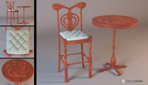 Bar Stool and Table Download by LuxXeon