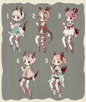 {CLOSED} Adoptable Set Price 07: Living Dolls by Reusoru