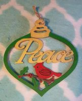 Peace Christmas Ornament *MERRY CHRISTMAS!* by CrimsonsCreations