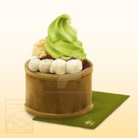 Matcha Ice Cream Dessert by Maygreen