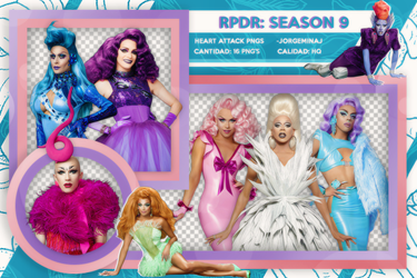 Pack png: RuPaul's Drag Race (Season #9) by JorgeMinaj