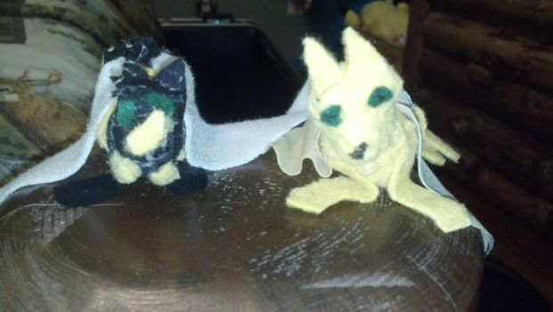 hand sewn little wolves by griffinthewolf