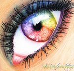 Rainbow Eye by esayelemay