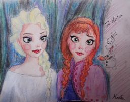 Elsa and Anna by 17cherry