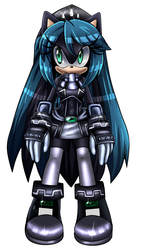 Mana the hedgehog (new boom desing) by Gabriel-black-cat