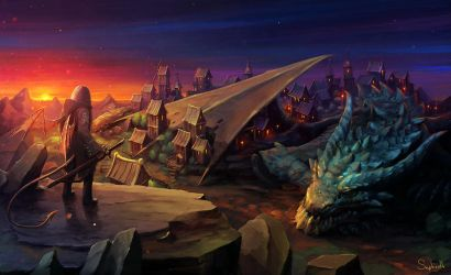 The Journey in The Sleeping Dragon City by Sephiroth-Art