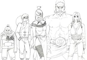 The five kages (sketch) by Pencilivy