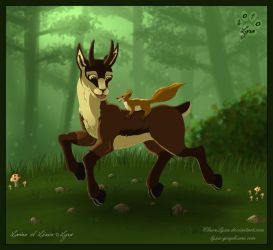 playing in the forest by ClaireLyxa