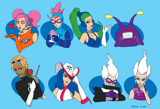 Space Channel 5 Characters by Camb0t