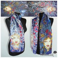 Silk scarf Night Queen - FOR SALE by MinkuLul