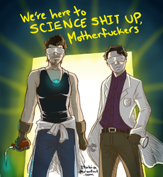 Science Bros by Itabia