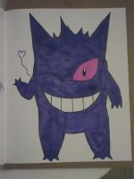 Inktober Day 3: Gengar by MoonStarEeveeBlue