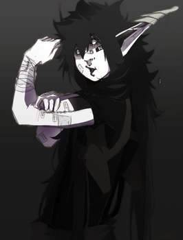 Ai coloured sketch by SkullyBones130