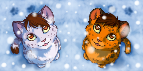 Winter icon  Ketty and Leo by TS-cat