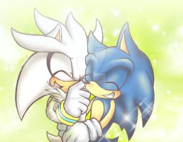 Silver and Sonic by Rilakkuma-kun