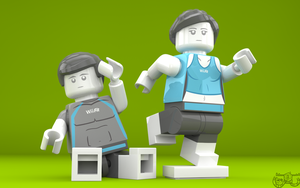 LEGO Smash Bros. - Wii Fit Trainers by Concore