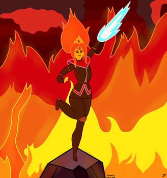 Fire Kingdom Rules-Flame Princess FanArt by Andrasfu1027
