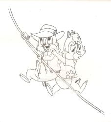 Chip N Dale Rescue Rangers by yuffb