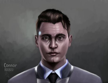 Connor|Detroit: become human by HelgaDi