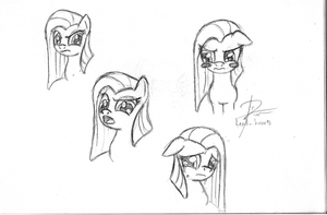 Pinkamena Sketch Dump by leadhooves