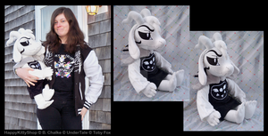 Adult Asriel Dreemurr Plush by HappyKittyPlushies
