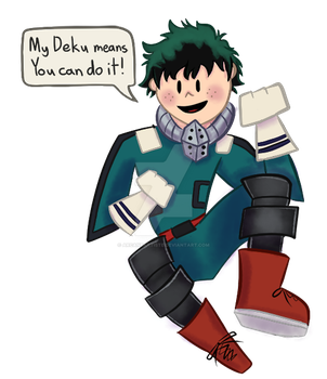 My Deku Means You Can Do It! by LuthienArtist