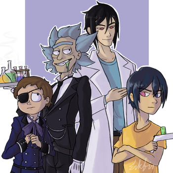 Rick and Morty + Black Butler by Erkfir