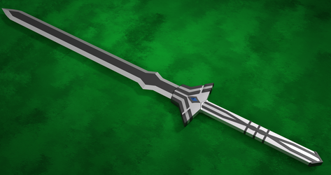 3D Fantasy Sword - My first sword Model by Tesseract95