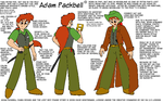 Adam Packbell Model Sheet by davidfoxfire