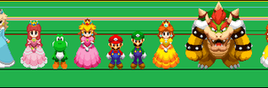 My dream team sprites size by earthbouds